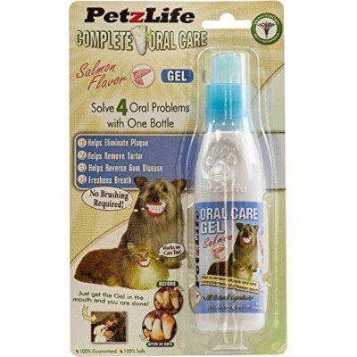 PETZLIFE 891016 Complete Oral Care Gel Salmon Blister-Package for Pets, 4-Ounce by PetzLife
