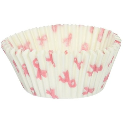 Oasis Supply 500 Count Pink Breast Cancer Awareness Baking Cups, Standard Size