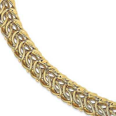 Beautiful Yellow gold 14K Yellow-gold Leslie's 14K Polished Bracelet comes with a Free Jewelry Gift