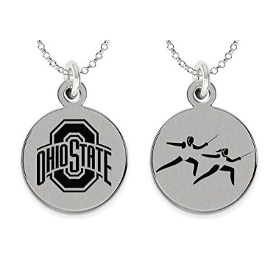 Ohio State Buckeyesフェンシングチャームネックレス