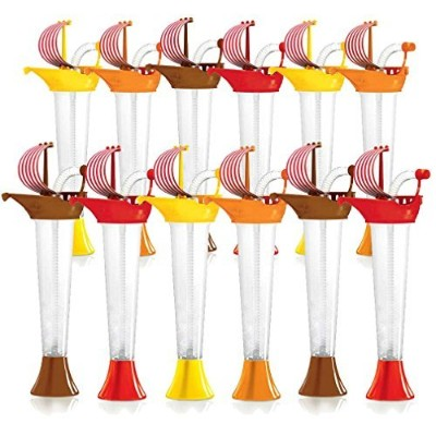 Ship Cups Kids Party 12-PACK - for Cold or Frozen Drinks, Kids Parties - First it's a Cup, then it...