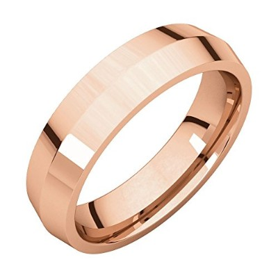 Beautiful Rose gold 10K Rose-gold Knife Edge Comfort Fit Band comes with a Free Jewelry Gift