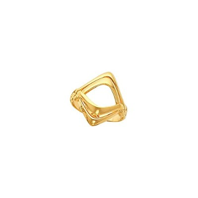 Beautiful Yellow-gold Freeform Remount Ring comes with a Free Jewelry Gift