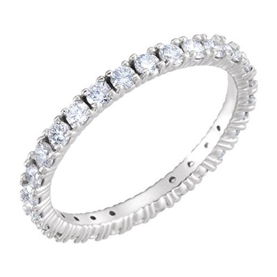 Beautiful White-gold 9/10 Ctw Diamond Eternity Band comes with a Free Jewelry Gift
