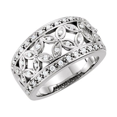 Beautiful White gold 18K White-gold Diamond Anniversary Band comes with a Free Jewelry Gift