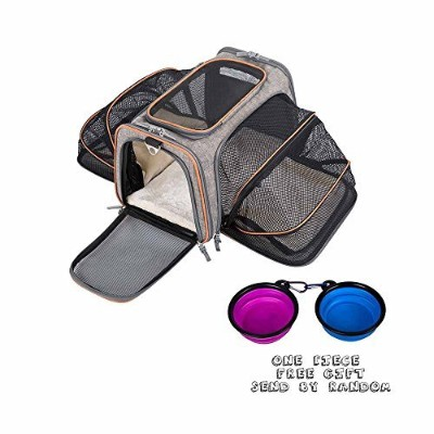 movepeakペット犬、猫、子犬用キャリアwith Airline Approved–Expandable Soft Sided Petトートキャリアバッグ、折りたたみペット子猫Totes...