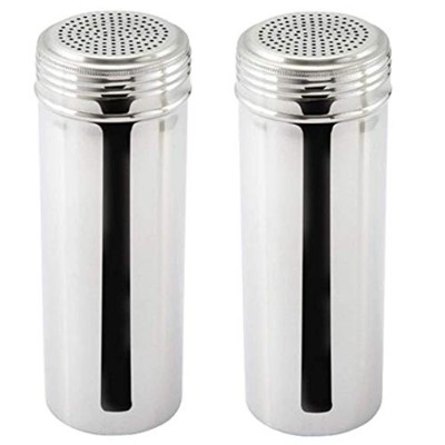 (Large) - Great Credentials Stainless Steel Dredge Shaker, Without Handle 650ml, Set of 2 (Large)