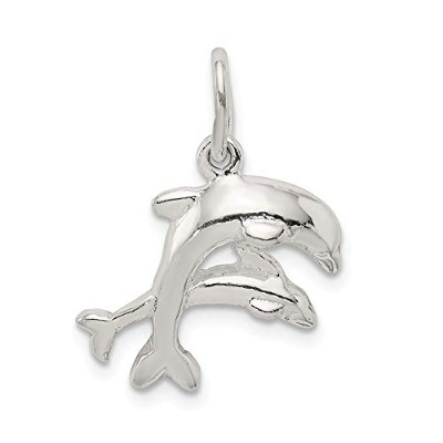 Beautiful Sterling silver 925 sterling Sterling Silver Dolphins Charm comes with a Free Jewelry Gift