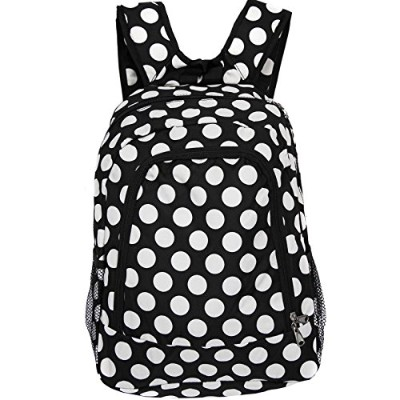 [ワールドトラベラー]World Traveler Multipurpose Backpack 16Inch, Black White Dot II, One Size 81BP5016-635 ...