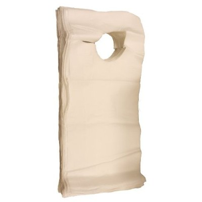 SNL Quality Disposable Adult Poly-Lined Bibs - 16 X 33 - Overhead (Pack of 150) by SNL