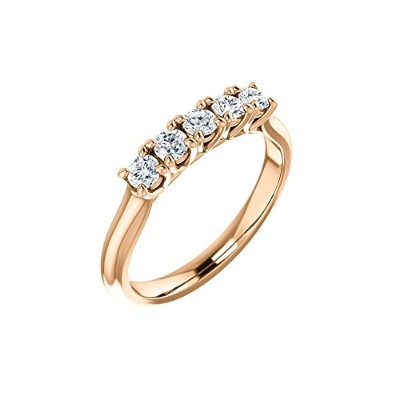 Beautiful Rose-gold 3/4 Ctw Diamond Anniversary Band comes with a Free Jewelry Gift
