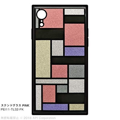 """EYLE スクエア型 ケース TILE""""STAINED GLASS"""" for iPhone XR(ステンドグラス PINK)"""