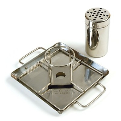 Steven Raichlen Best Of Barbecue Beer-can Chicken Rack With Drip Pan (stainless