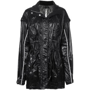 Proenza Schouler Shiny Nylon Tied Jacket - ブラック