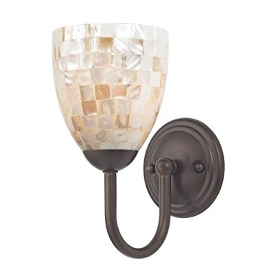 Sconce withモザイクガラスでブロンズ仕上げ