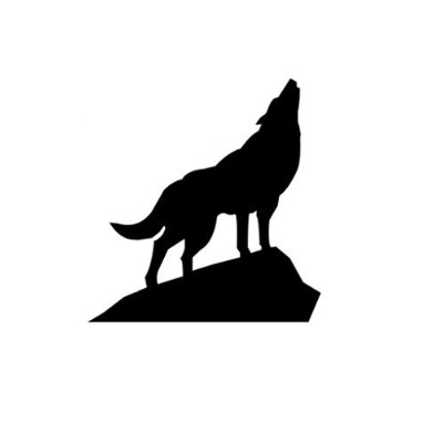 (8x10) - Wolf on Rock Stencil Made From 4 Ply Matboard