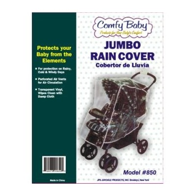 Comfy Baby! Universal Clear Waterproof Rain Cover/Wind Shield for Jumbo Stroller by Comfy Baby