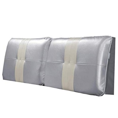 Support Bed Wedge Bedside Soft Pack Bed Cushion Big Back Double Bed Leather Pillow Bed Cover 多機能 (色...