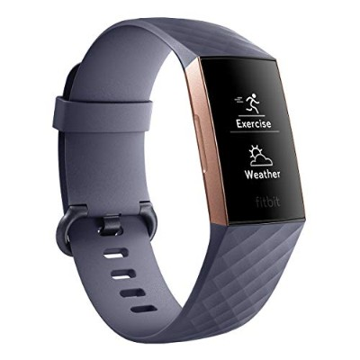 Fitbit フィットビット フィットネストラッカー Charge3 バッテリーライフ最大7日間 睡眠ステージ記録 活動量計 歩数&距離&カロリー記録 耐水50m性能 着信/SMS/アプリ(LINE...