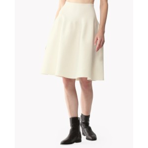 【Theory】Cheshire Knit Shaped Flare Skirt 【30%OFF】立体的なコクーンシルエットが今季らしいスカート。 ホワイト 大人 セオリー レディース