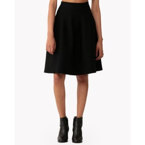 【Theory】Cheshire Knit Shaped Flare Skirt 立体的なコクーンシルエットが今季らしいスカート。 ブラック 大人 セオリー レディース