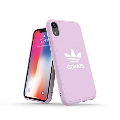 Adidas 32844 OR ADICOLOR Moulded Case CANVAS FW18 clear pink 〔iPhone XR用〕