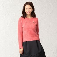 SALE【トゥー ビー シック(TO BE CHIC)】 ★★【L】ヘヤリーヤーンコンビ ピンク