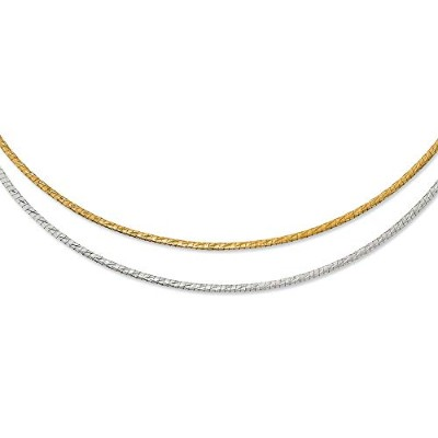 Beautiful White and yellow gold 14K White-and-yellow-gold Leslie's 14K Two-tone Reversible 2.5mm...