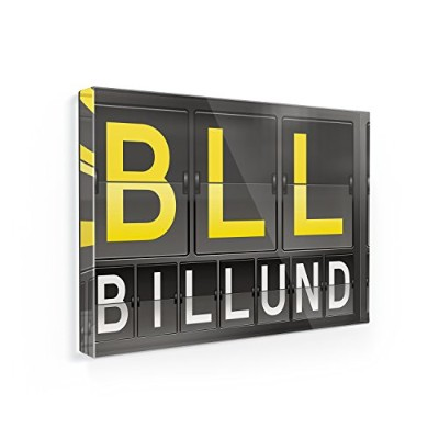 冷蔵庫マグネットBLL Airportコードfor Billund – Neonblond