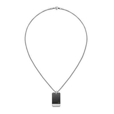 [男性用ネックレス]Tommy Hilfiger Men Stainless Steel Pendant Necklace - 2701017[平行輸入品]