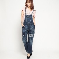 【SALE 50%OFF】ゲス GUESS BEATRICE DENIM OVERALL (VINTAGE PATCHED)
