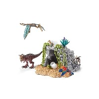 Schleich 恐竜と洞窟セット○42261 おもちゃ