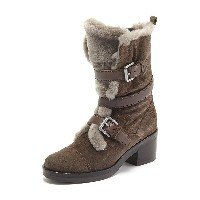 GEOX ANKLE BOOTS○D641LB02243C6004 Chestnut ブーツ