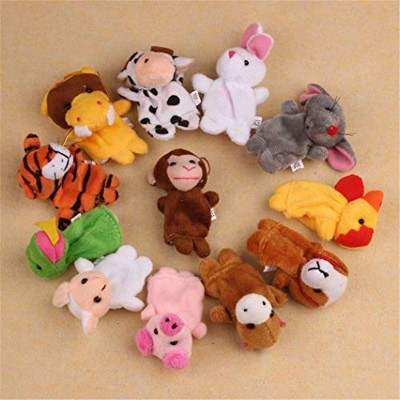 (Pack of 12) - Gotd Finger Puppets 12 Animals Plush Toys (Pack of 12)