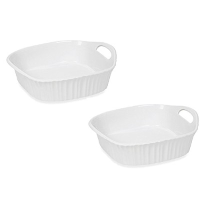 CorningWareフレンチホワイトIII 8-inch Square Baking Dish ( Set of 2 )