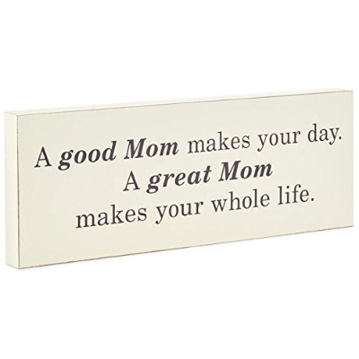 GREAT MOM木製Quote Sign、16x 6Plaques & Signsファミリ