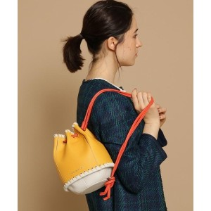 【anatelier(アナトリエ)】 【WEB限定】mica della valle 3WAYミニ巾着バッグ バッグ・財布・小物入れ > ショルダーバッグ イエロー