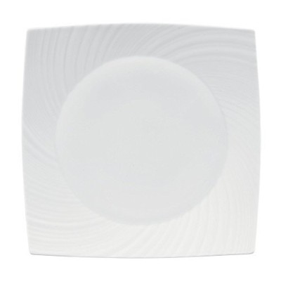"""Wedgwood Ethereal Square Plate, 9"""", White by Wedgwood [並行輸入品]"""
