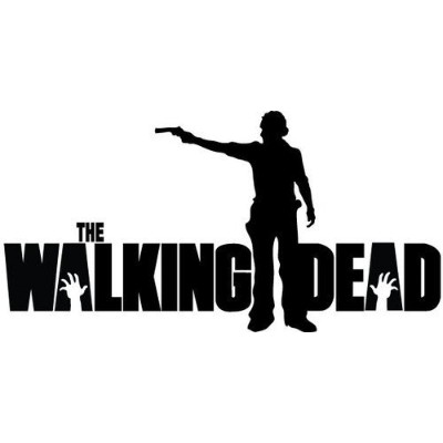 "Rick Grimes Gun The Walking Deadロゴビニールステッカーデカールfor Car Windowsノートパソコン 11"" inches (White"