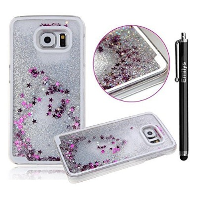 Note 5 Case,Emilys Samsung Galaxy Note 5 case,Emilys fashion style New Glitter Quicksand liquid...
