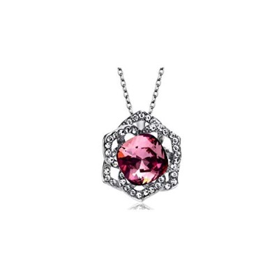 Austria Crystal & Auden Rhinestone Exquisite Geomeric Style Alloy Plated Pendant Necklace For Women...