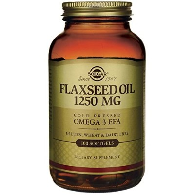 海外直送品Flaxseed Oil, 1250 mg, 100 S Gels by Solgar