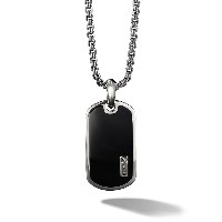 David Yurman Exotic Stone black onyx Tag Enhancer - Ssbbo