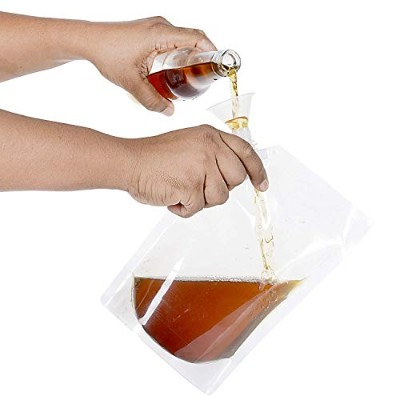 (3 Piece Kit (3x240ml) + FREE FUNNEL) - Concealable And Reusable Cruise Flask Kit Sneak Alcohol...