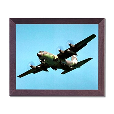 c-130Cargo Airplane Jet Army画像フレーム付きアートプリント