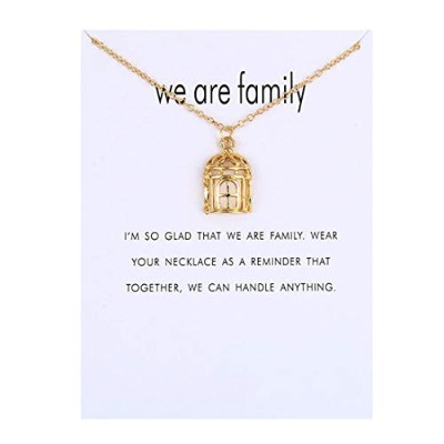 Dzhouqulim We are Family House is a Home ペンダントネックレス 16インチ