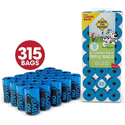Bramton Bags on Board Pet Dogs Waste Poop Bags Refill Pantry Economy Pack 315ct