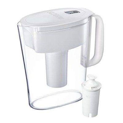 Brita 5 Cup Metro Water Pitcher with 1 Filter, BPA Free, White by Brita