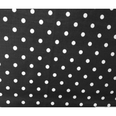Small Polka Dot Poly Cotton White Dots on Black 58 Inch Fabric By the Yard (F.E.テつョ) by The Fabric...