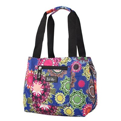 (Charming Blue) - Nicole Miller of New York Insulated Lunch Cooler 11 Lunch Tote (Charming Blue)